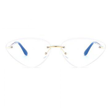 Vintage Rimless Cat Eye Sunglasses - WHITE