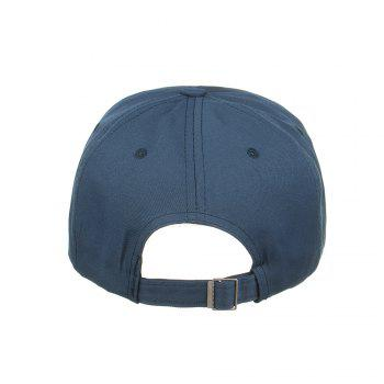 Metal Ring Letter Embroidery Adjustable Graphic Hat - CADETBLUE