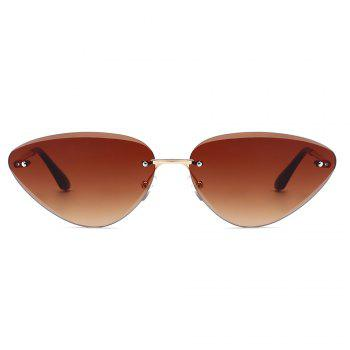 Vintage Rimless Cat Eye Sunglasses - TEA COLORED