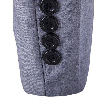 Stand Collar Casual Single Breasted Blazer - GRAY XL