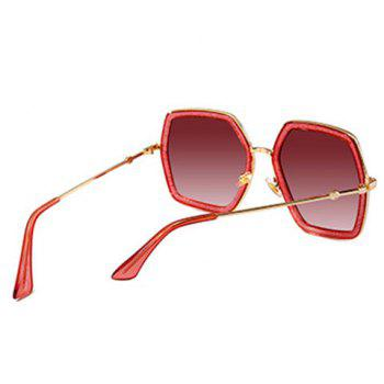 Anti UV Full Frame Oversized Driver Sunglasses - PEACH RED