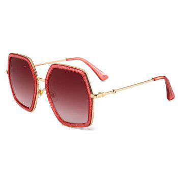 Anti UV Full Frame Oversized Driver Sunglasses - PEACH RED PEACH RED