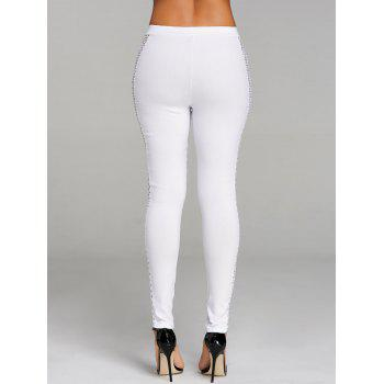 Cross Fishnet Side Pants - WHITE XL