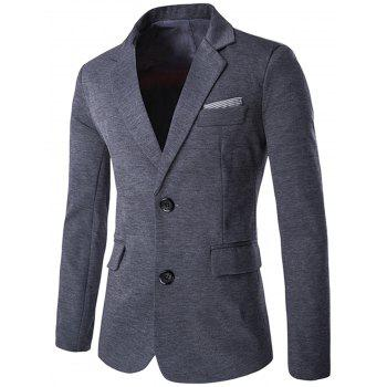 Swallow Gird Single Breasted Color Block Blazer - GRAY GRAY