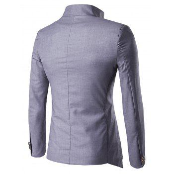 Irregular Design Buttons Blazer - GRAY 2XL