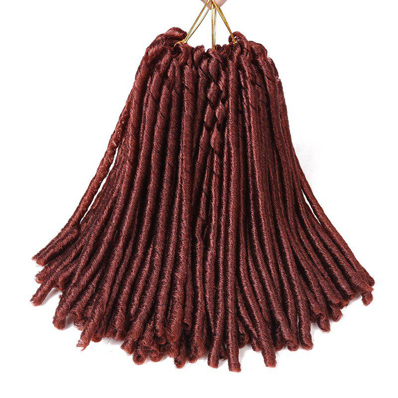 Short Crochet Braids Dreadlocks Synthetic Hair Extension - BRICK RED