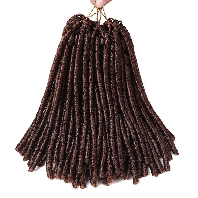 Extension de Cheveux Synthétiques Tresses Dreadlocks au Crochet Court - Brun