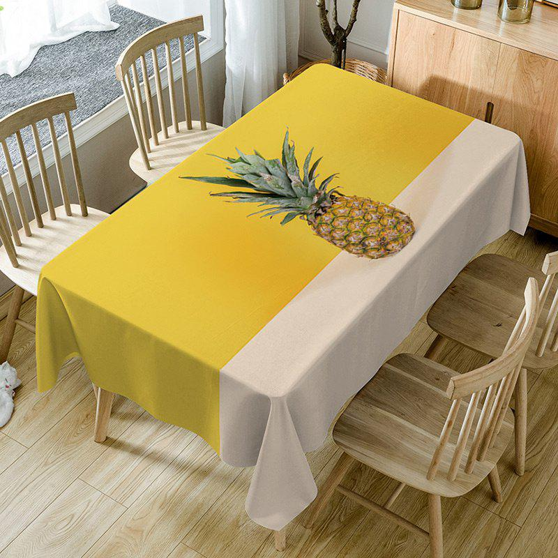 Pineapple Print Waterproof Table Cloth - YELLOW W54 INCH * L72 INCH