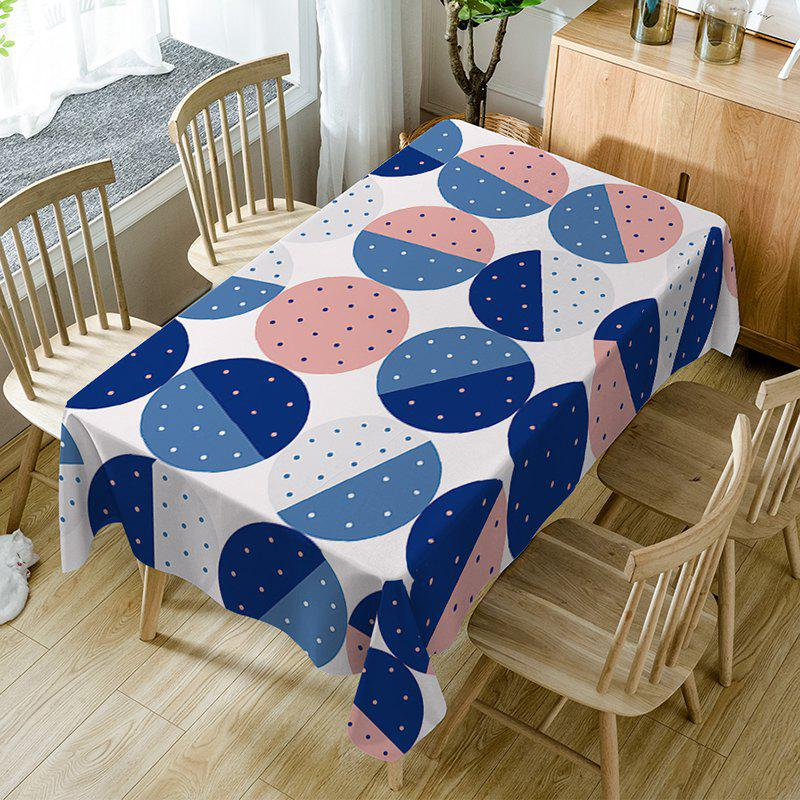 Dot Print Waterproof Table Cloth - COLORMIX W54 INCH * L72 INCH