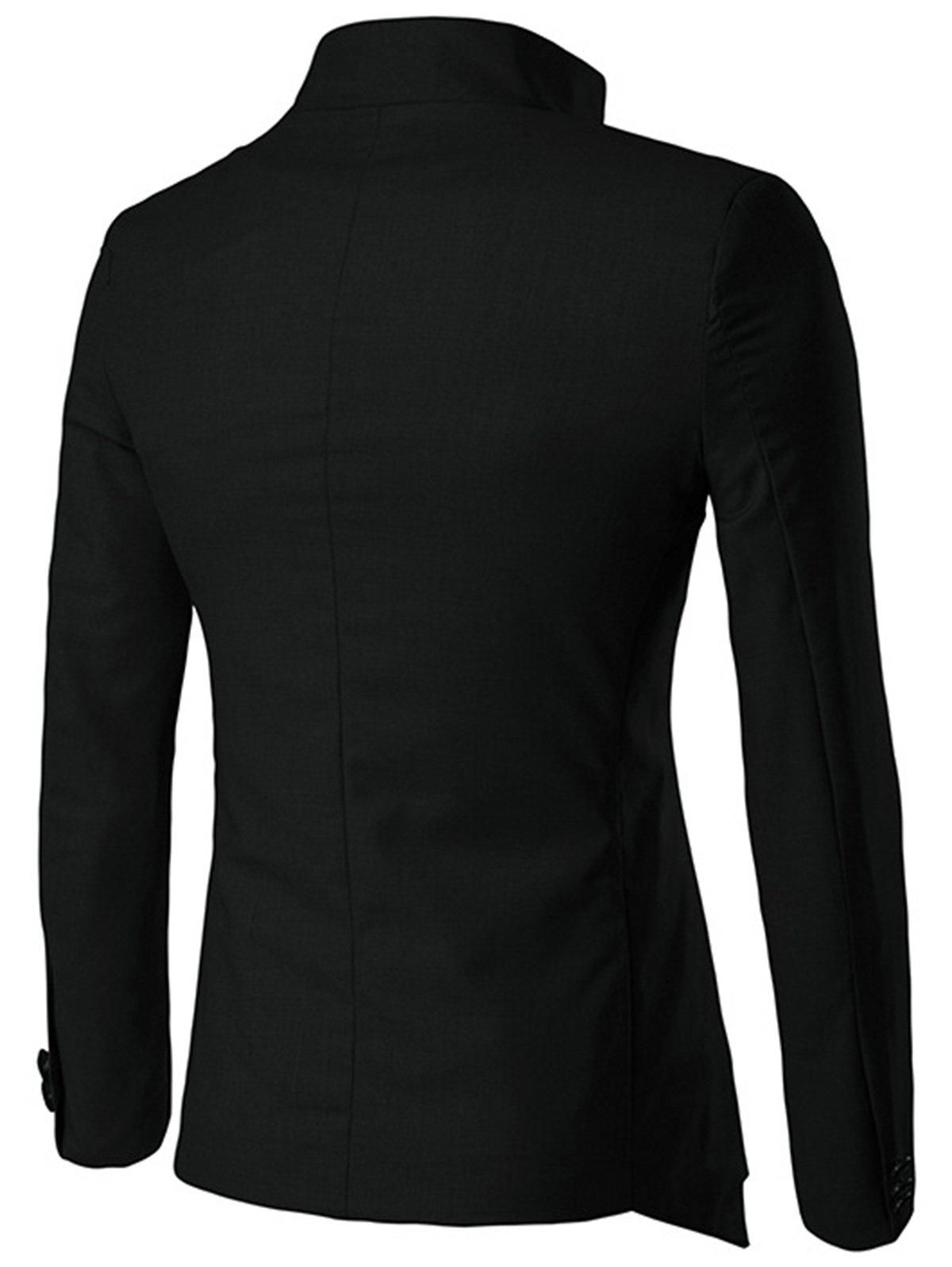Single Breasted Irregular Design Blazer - BLACK XL