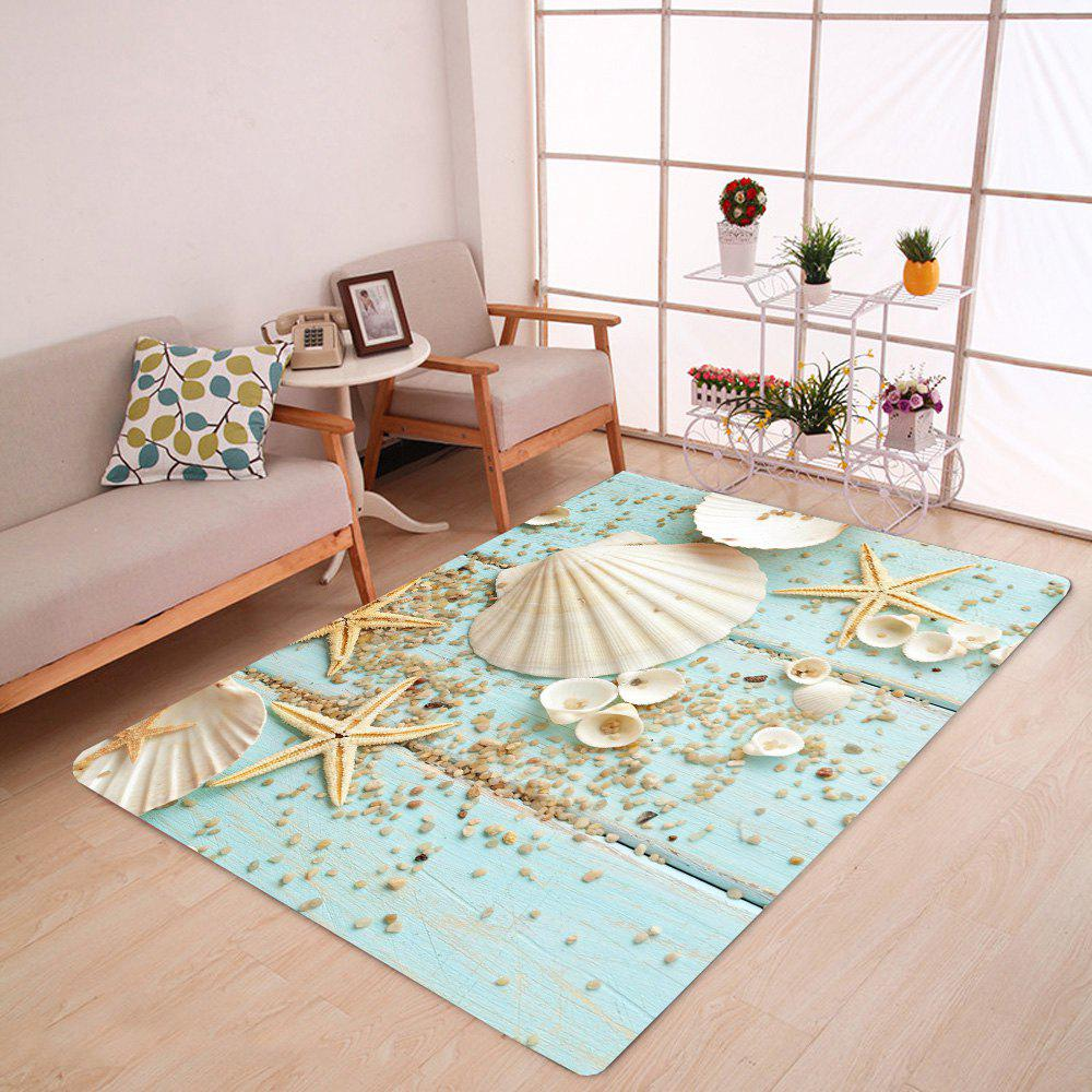 Shell Starfish Deck Pattern Indoor Outdoor Area Rug sand shell starfish pattern floor area rug
