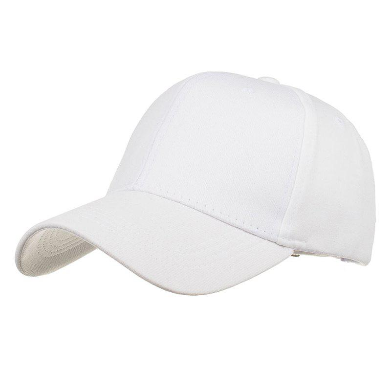 Casquette de baseball ajustable Simple Line Embroidery - Blanc