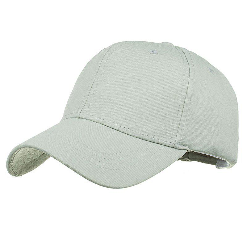 Casquette de baseball ajustable Simple Line Embroidery - gris