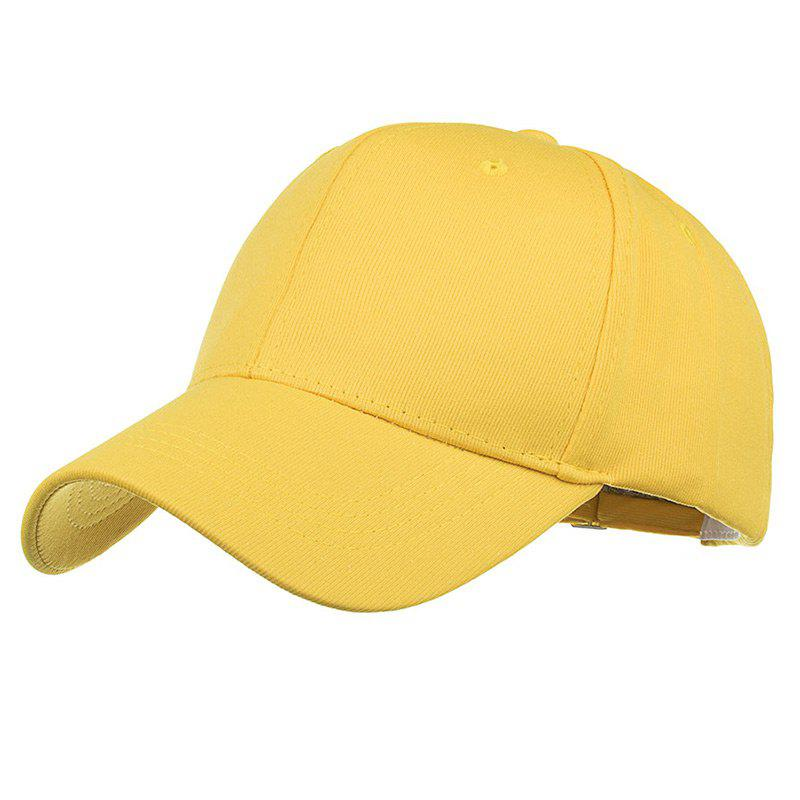 Simple Line Embroidery Adjustable Baseball Cap - YELLOW
