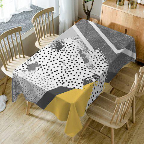 Polka Dot Print Fabric Waterproof Table Cloth - COLORMIX W60 INCH * L84 INCH