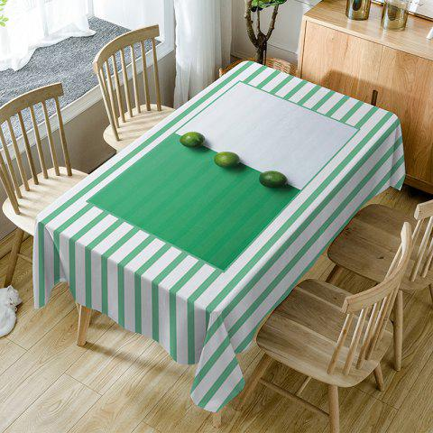 Fruits Striped Print Waterproof Table Cloth - GREEN W54 INCH * L72 INCH