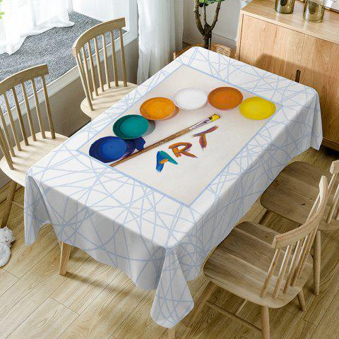 Painting Art Print Waterproof Table Cloth - COLORMIX W54 INCH * L72 INCH
