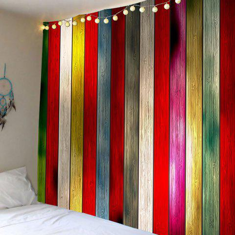 Wall Art Colorful Plank Printed Hanging Tapestry - COLORFUL W79 INCH * L59 INCH