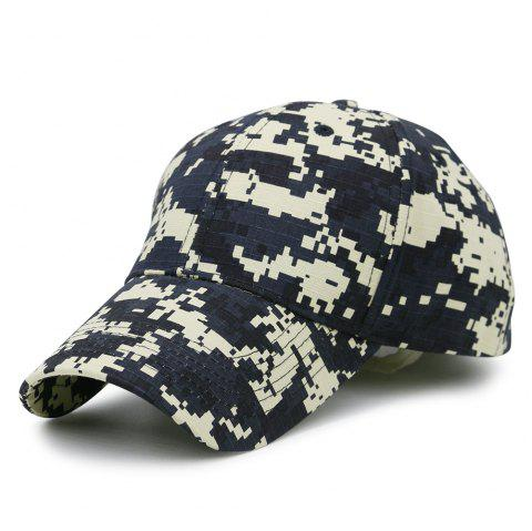 Unique Digital Pattern Embellished Baseball Hat - BLACK