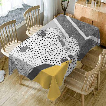 Polka Dot Print Fabric Waterproof Table Cloth - COLORMIX COLORMIX