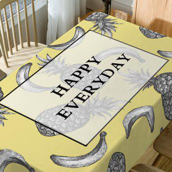 Happy Everyday Fruits Print Waterproof Table Cloth - COLORMIX W54 INCH * L72 INCH