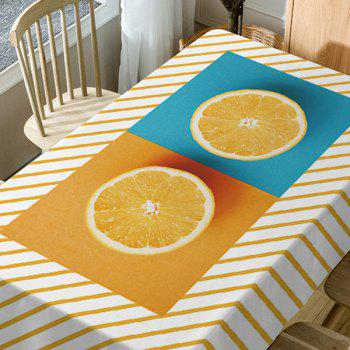 Tissu de table imperméable à rayures orange - Orange W54 INCH * L72 INCH
