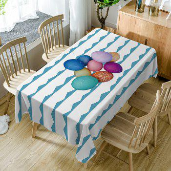 Colorful Eggs Curve Print Fabric Waterproof Table Cloth - COLORMIX COLORMIX