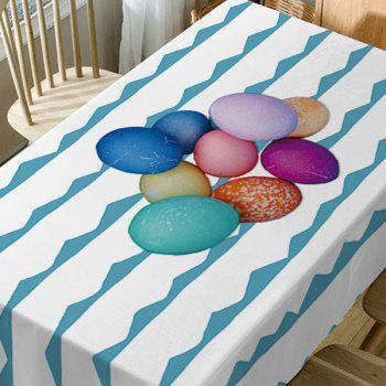 Colorful Eggs Curve Print Fabric Waterproof Table Cloth - COLORMIX W54 INCH * L72 INCH