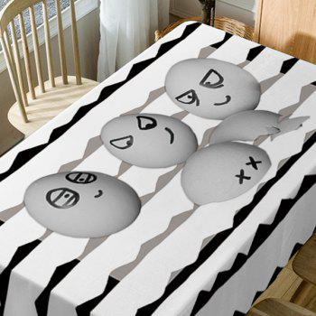 Egg Emoticon Print Waterproof Table Cloth - GRAY W54 INCH * L72 INCH
