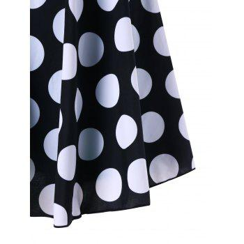 Polka Dot Printed One Piece Skirted Swimsuit - COLORMIX XL