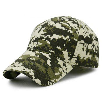 Unique Digital Pattern Embellished Baseball Hat - ARMY GREEN ARMY GREEN