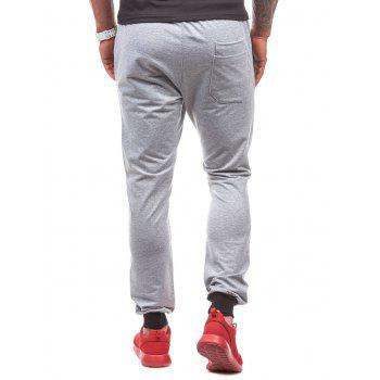 Destroyed Drawstring Waist Jogger Sweatpants - LIGHT GRAY LIGHT GRAY
