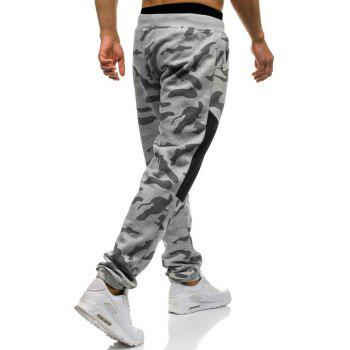 Camouflage Drawstring Waist Jogger Sweatpants - LIGHT GRAY L