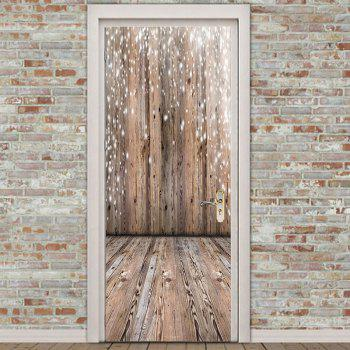 Decorative Wooden Board Printed Door Stickers - WOODEN VERSION 38.5*200CM*2PCS