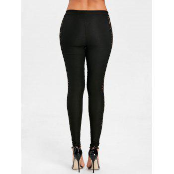 Cross Fishnet Side Pants - BLACK XL