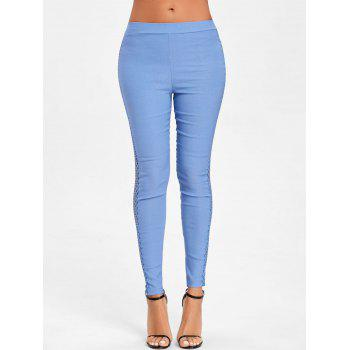 Cross Fishnet Side Pants - BLUE S