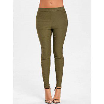 Cross Fishnet Side Pants - GREEN XL