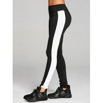 High Rise Two Tone Workout Leggings - BLACK XL