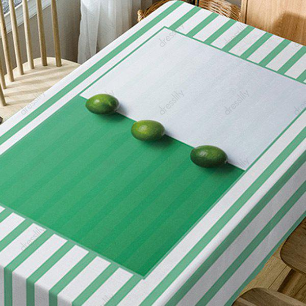Fruits Striped Print Waterproof Table Cloth - GREEN W60 INCH * L84 INCH
