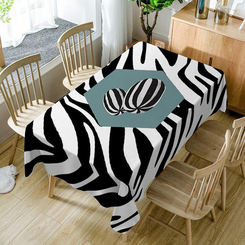 Zebra Print Fabric Waterproof Table Cloth floral print fabric waterproof table cloth