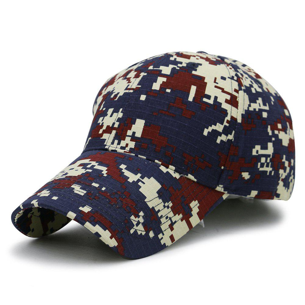 Unique Digital Pattern Embellished Baseball Hat - RED