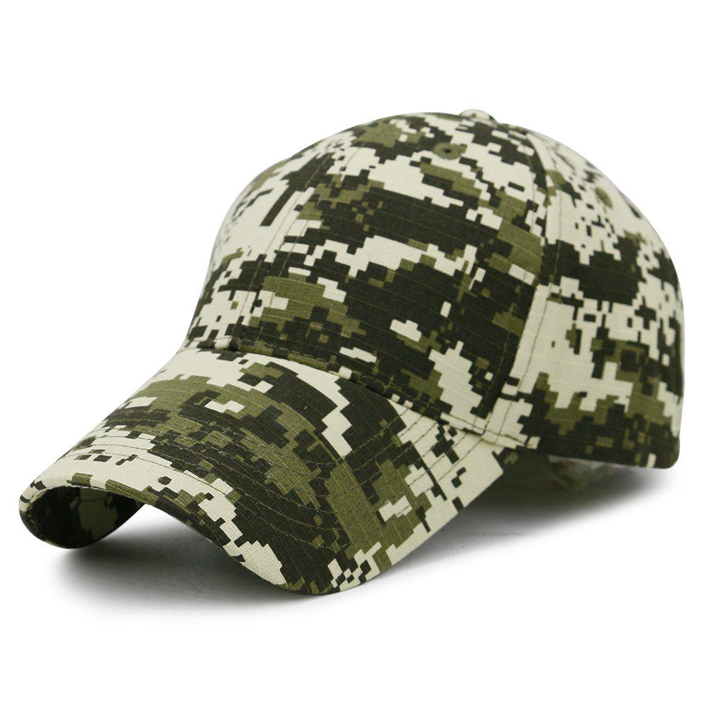 Unique Digital Pattern Embellished Baseball Hat - ARMY GREEN
