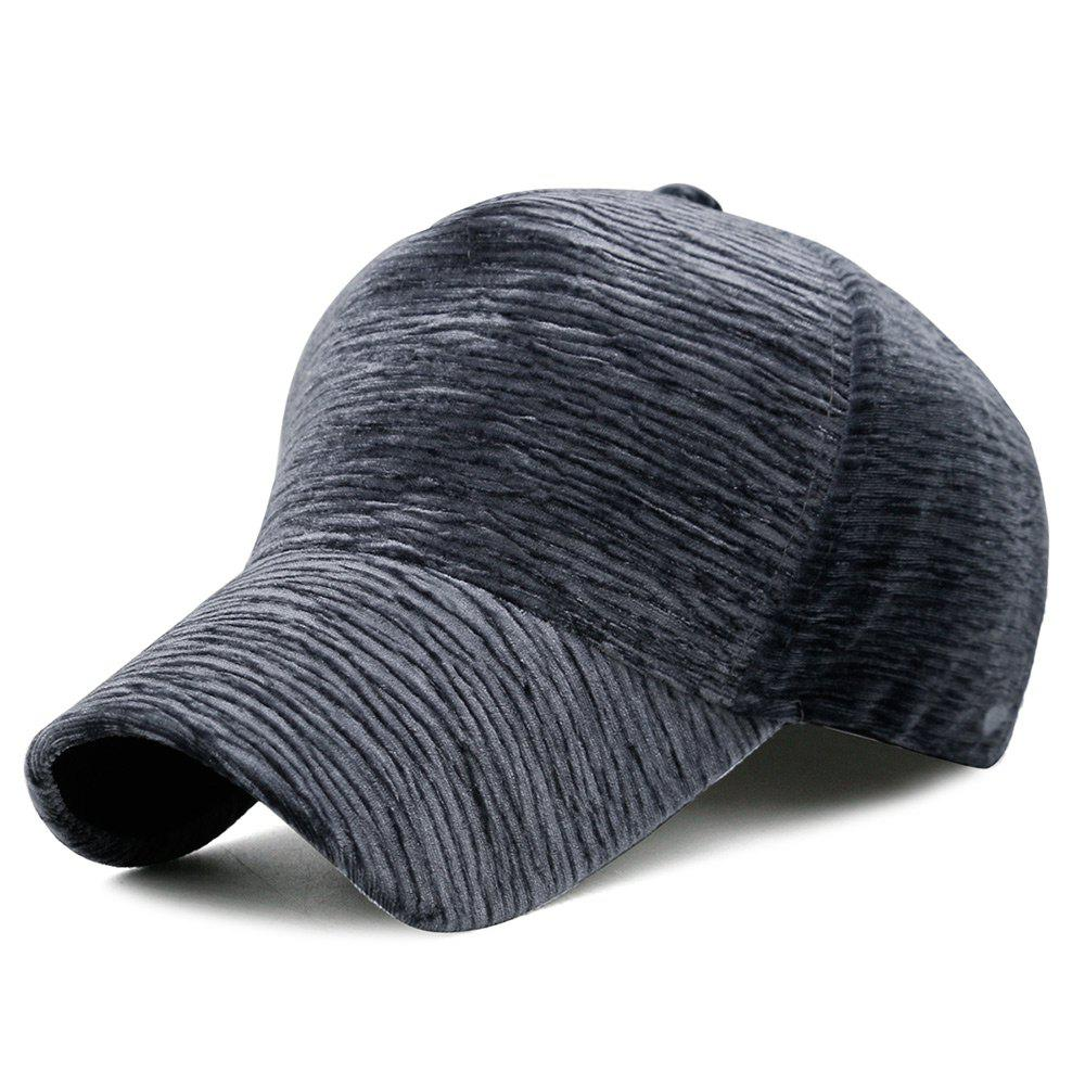 Unique Solid Color Striped Pattern Sunscreen Hat - GRAY