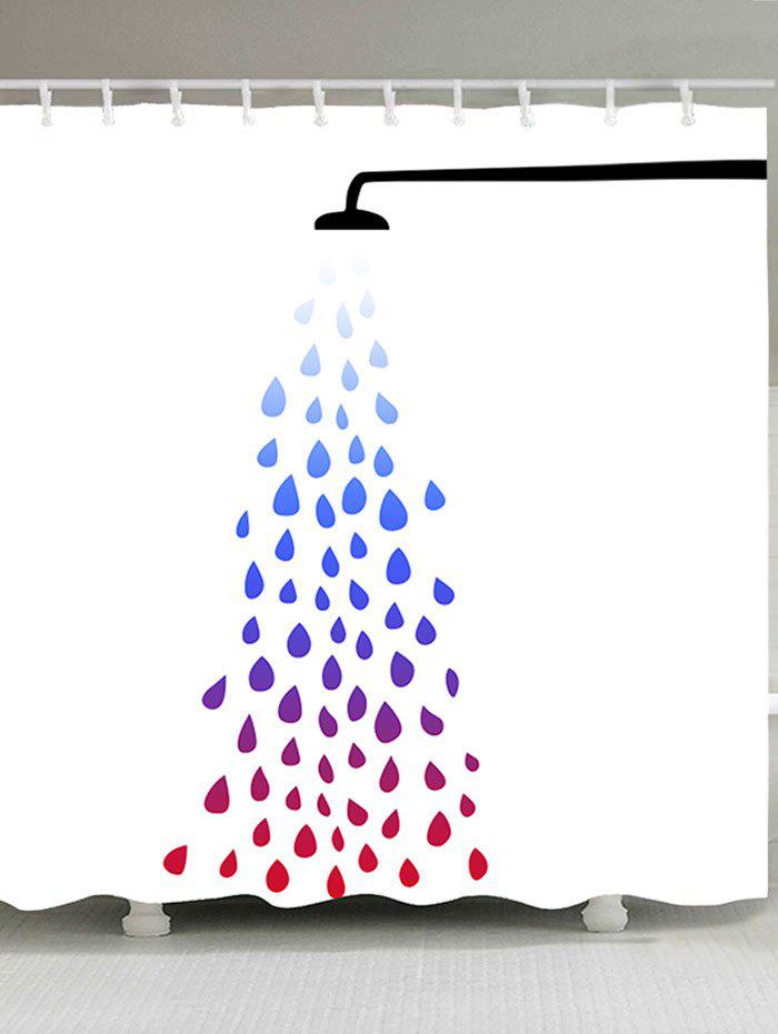 Waterproof Taking Bath Print Shower Curtain - COLORFUL W59 INCH * L71 INCH