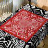Geometric Print Waterproof Table Cloth - BLACK/RED W54 INCH * L72 INCH