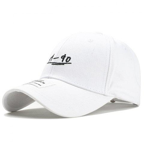 Unique 19-90 Pattern Embroidery Adjustable Sunscreen Hat - WHITE