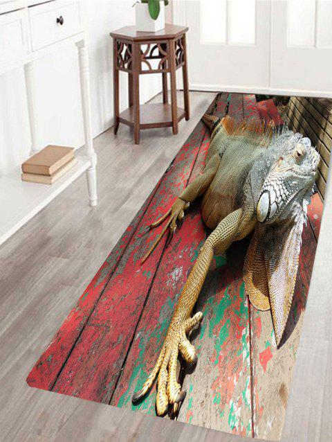 Wood 3D Lizard Print Indoor Outdoor Area Rug - COLORFUL W24 INCH * L71 INCH