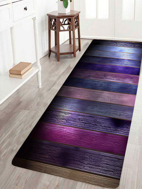Colorful Wood Grain Patterned Skidproof Rug - COLORFUL W24 INCH * L71 INCH