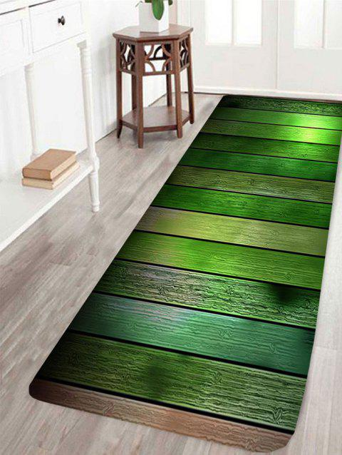 Wood Flooring Pattern Non-slip Floor Area Rug - GREEN W24 INCH * L71 INCH