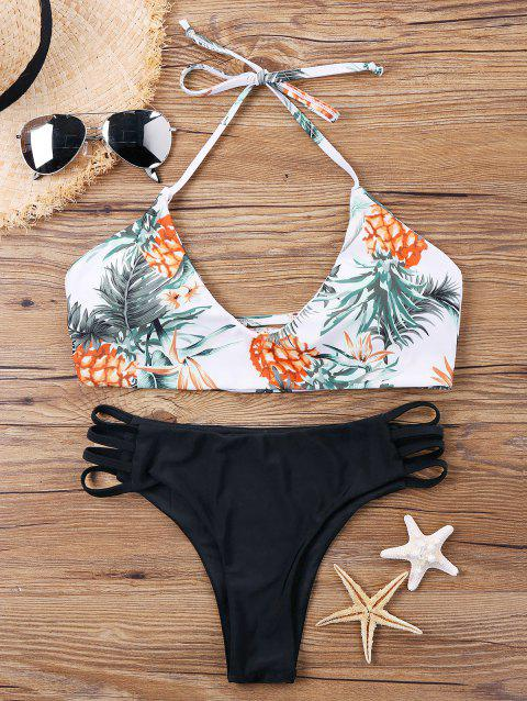 Pineapple Printed Multi String Bikini - COLORMIX XL